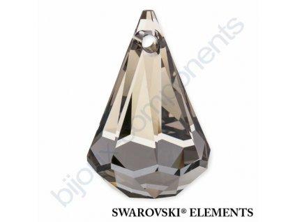 SWAROVSKI ELEMENTS přívěsek - XIRIUS dešťová kapka, crystal satin, 14mm