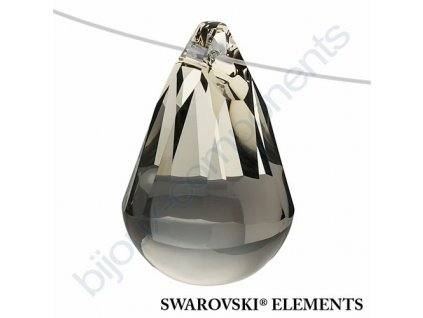 SWAROVSKI ELEMENTS přívěsek - Cabochette, black diamond, 13mm