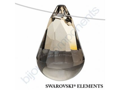 SWAROVSKI ELEMENTS přívěsek - Cabochette, crystal satin, 13mm