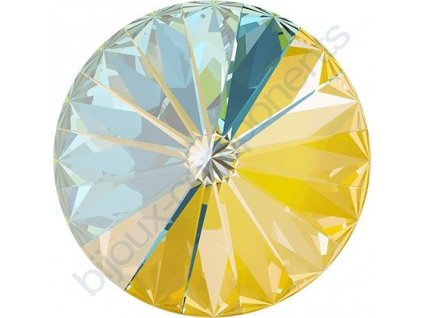 SWAROVSKI CRYSTALS kameny - Rivoli Chaton, crystal sunshine, 12mm
