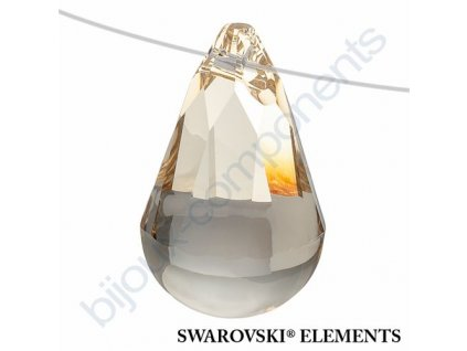 SWAROVSKI ELEMENTS přívěsek - Cabochette, light silk, 13mm