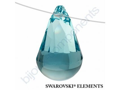 SWAROVSKI ELEMENTS přívěsek - Cabochette, light turquoise, 13mm