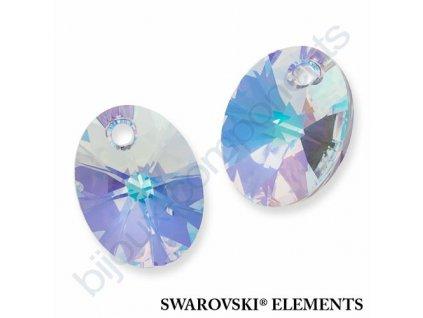 SWAROVSKI ELEMENTS přívěsek - XILION ovál, crystal AB, 12mm