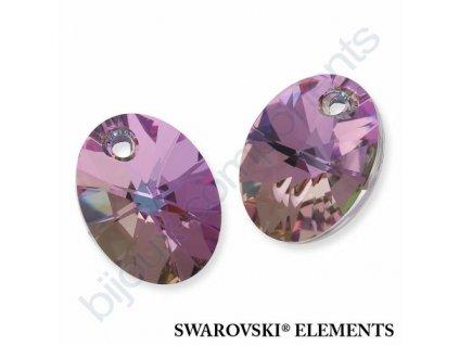 SWAROVSKI ELEMENTS přívěsek - XILION ovál, crystal VL, 12mm