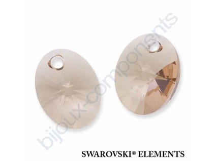 SWAROVSKI ELEMENTS přívěsek - XILION ovál, light silk, 12mm