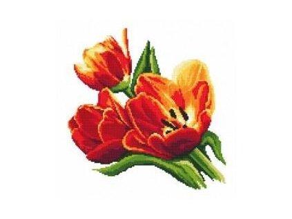 Vyšívací sada z Preciosa rokajlu - tulipány
