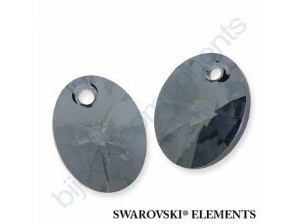 SWAROVSKI ELEMENTS přívěsek - XILION ovál, crystal blue shade, 18mm