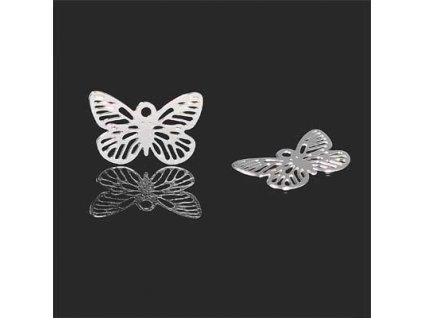 Přívěsek filigránový motýl cca 15x10mm
