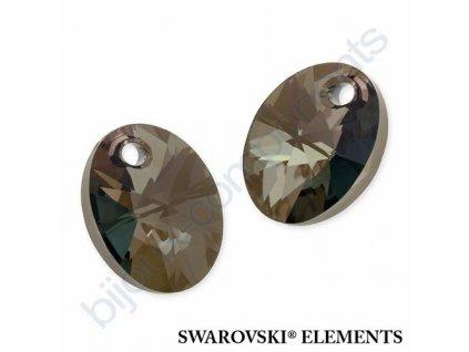 SWAROVSKI ELEMENTS přívěsek - XILION ovál, crystal iridescent green, 10mm