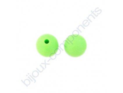Silikonové korálky, světle zelené, 12mm
