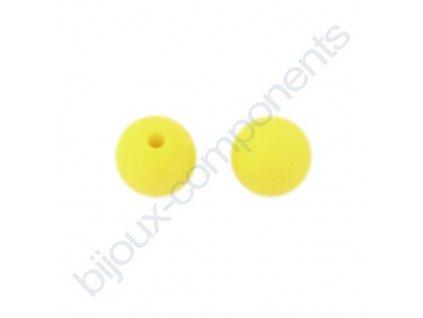 Silikonové korálky, citronově žluté, 12mm