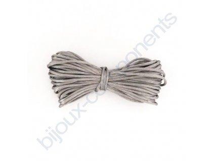 Saténová šňůrka, šedá, 1,5mm