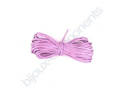 Saténová šňůrka, fialová, 1,5mm