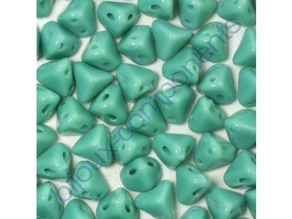Super-Kheops par Puca, Opaque Green Turquoise, 6mm, 12ks
