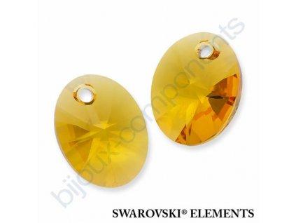 SWAROVSKI ELEMENTS přívěsek - XILION ovál, sunflower, 10mm