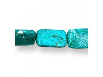 Magnesit tyrkysově barvený - korálky