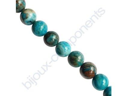 Polodrahokamové kuličky - Krajkový achát modrý