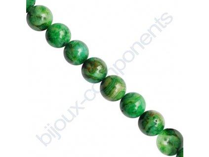 Polodrahokamové kuličky - Krajkový achát zelený