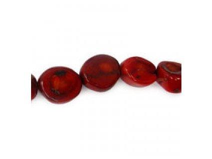 Červený korál - barvený - robustní nugety