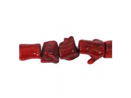 """Červený korál - barvený - """"větvoví"""""""
