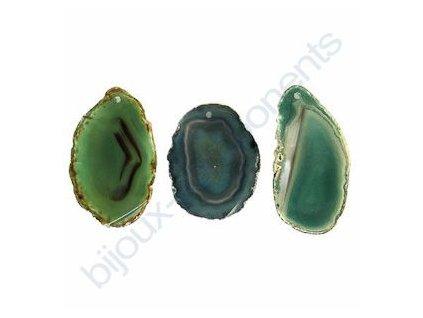 Polodrahokamový přívěsek - Achát, zeleně barvený