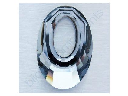 SWAROVSKI ELEMENTS přívěsek - Helios, crystal silver night, 30mm