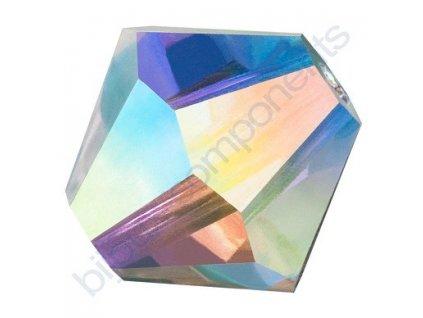 PRECIOSA - MC Bead Rondelle, Crystal AB, cca 4mm