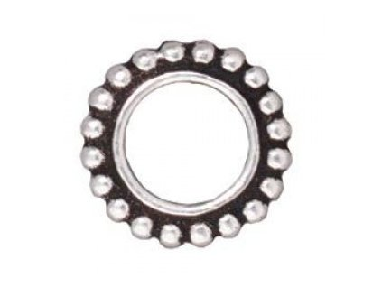 Cínový komponent Tierracast, cca 11,5mm, vnitříní průměr cca 6,5mm