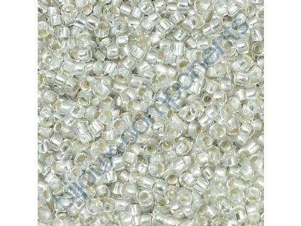 TOHO rokajl,Silver-Lined Frosted Crystal,vel.2,2 mm, průtah 0,8 mm