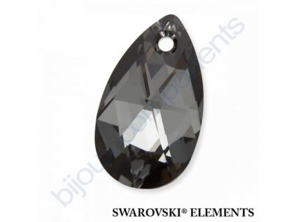 SWAROVSKI ELEMENTS přívěsek - hruška, crystal silver night, 16mm