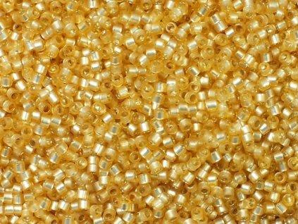 TOHO Treasure, Silver Lined Milky Lt.Topaz, vel.1,8 mm, průtah 0,9 mm, 5 g (cca 500 ks)