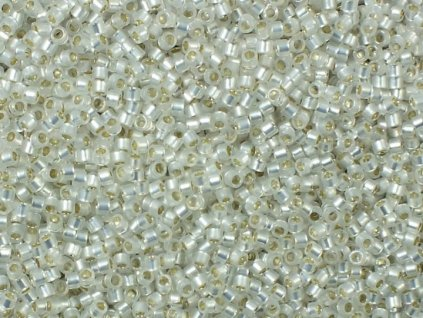 TOHO Treasure, Silver Lined Milky White, vel.1,8 mm, průtah 0,9 mm, 5 g (cca 500 ks)