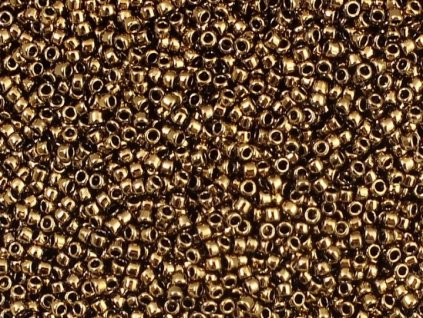 TOHO rokajl, Bronze, vel.1,5 mm, průtah 0,5 mm