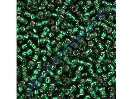 TOHO rokajl, Silver-Lined Green Emerald, vel.1,5 mm, průtah 0,5 mm