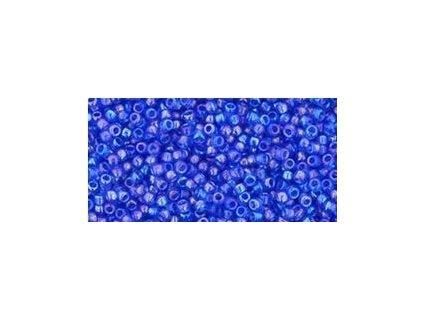 TOHO rokajl, Trans-Rainbow Sapphire, vel.1,5 mm, průtah 0,5 mm