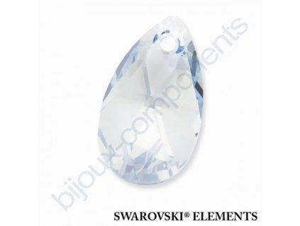 SWAROVSKI ELEMENTS přívěsek - hruška, crystal blue shade, 22mm