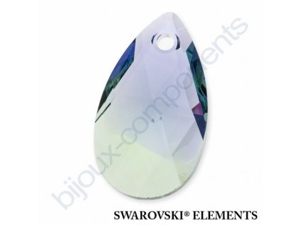 SWAROVSKI ELEMENTS přívěsek - hruška, provence lavender - chrysolite blend, 22mm