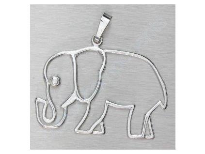 Přívěsek slon, cca 25x27mm