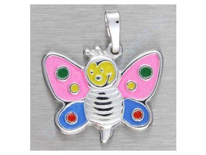 Přívěsek - motýl dětský, cca 17x19mm