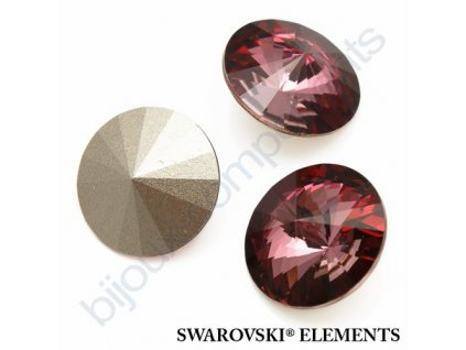 SWAROVSKI ELEMENTS kameny - Rivoli Chaton, crystal antique pink, 16mm