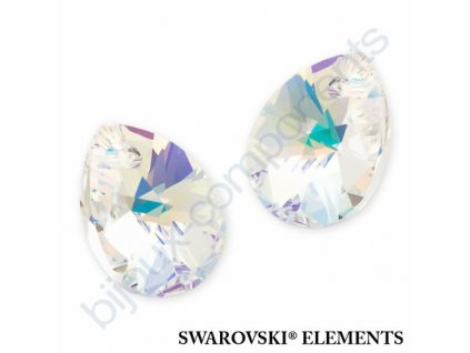 SWAROVSKI ELEMENTS přívěsek - XILION hruška (mini), crystal AB, 10mm
