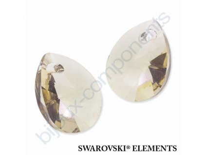 SWAROVSKI ELEMENTS přívěsek - XILION hruška (mini), light silk, 10mm