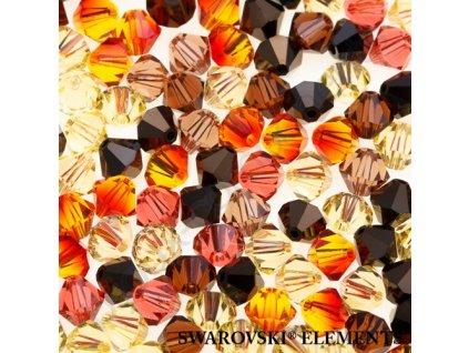 Korálky Swarovski - sluníčko, 5mm, mix barev