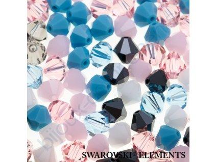 Korálky Swarovski - sluníčko, 6mm, mix barev