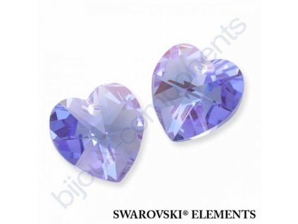 SWAROVSKI ELEMENTS přívěsek - srdce, light sapphire AB, 10,3x10mm