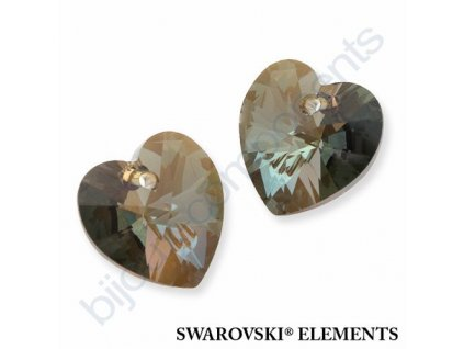 SWAROVSKI ELEMENTS přívěsek - XILION srdce, crystal bronze shade, 14,4x14mm