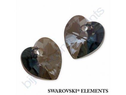 SWAROVSKI ELEMENTS přívěsek - XILION srdce, crystal iridescent green, 14,4x14mm
