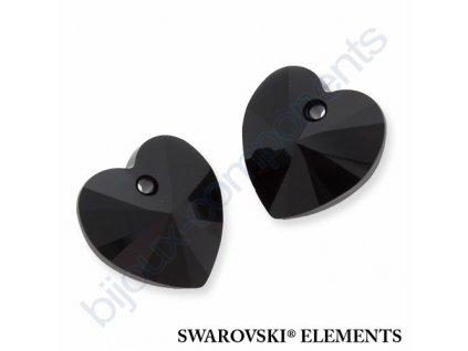 SWAROVSKI ELEMENTS přívěsek - XILION srdce, jet, 14,4x14mm