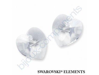 SWAROVSKI ELEMENTS přívěsek - XILION srdce, crystal, 18x17,5mm