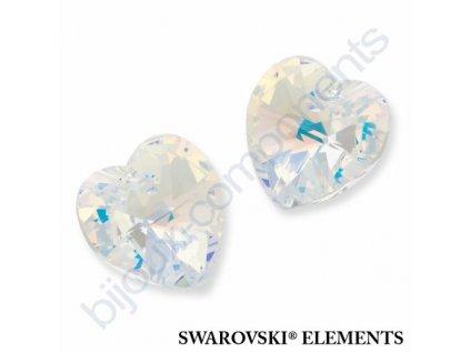 SWAROVSKI CRYSTALS přívěsek - XILION srdce, crystal AB, 14,4x14mm